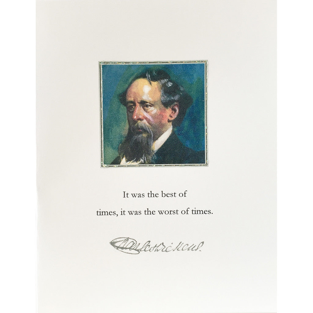 Greeting Card Charles Dickens - Lumia Designs
