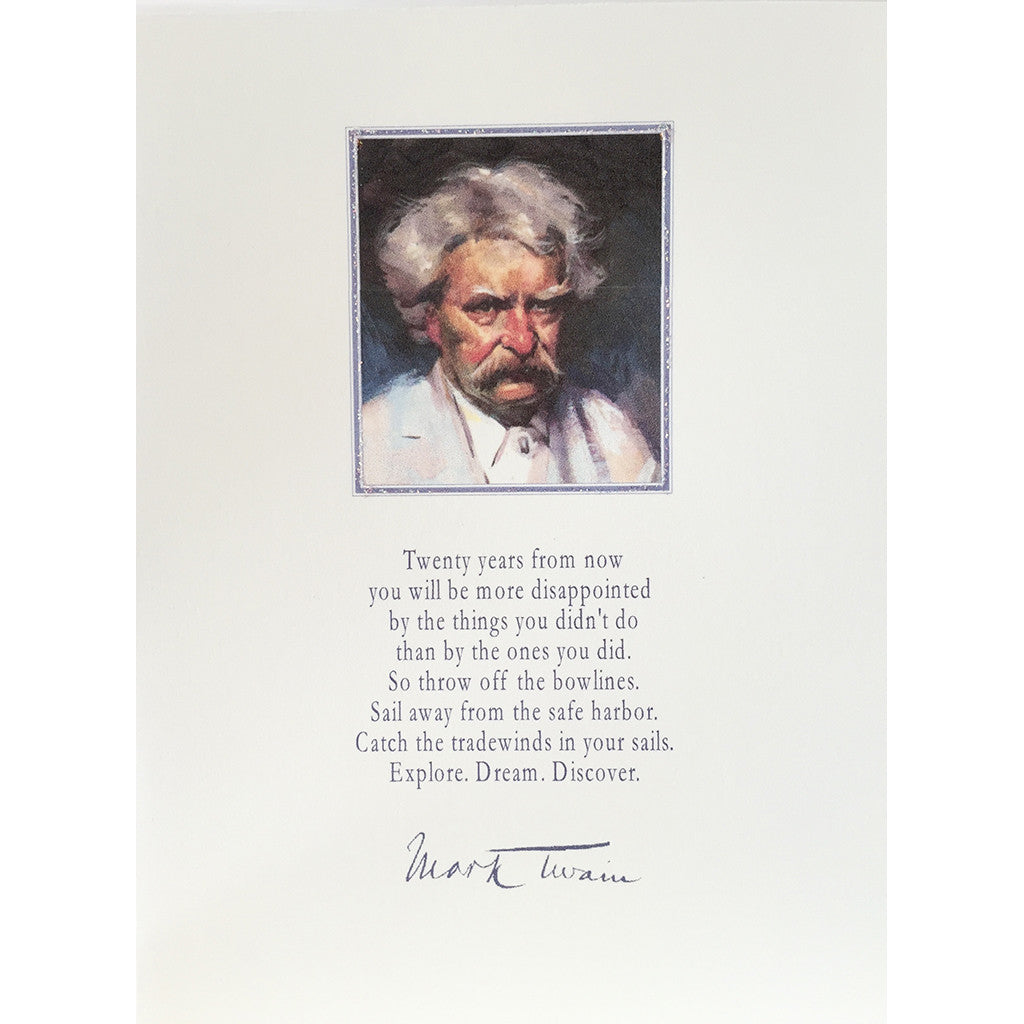 Greeting Card Mark Twain - Lumia Designs