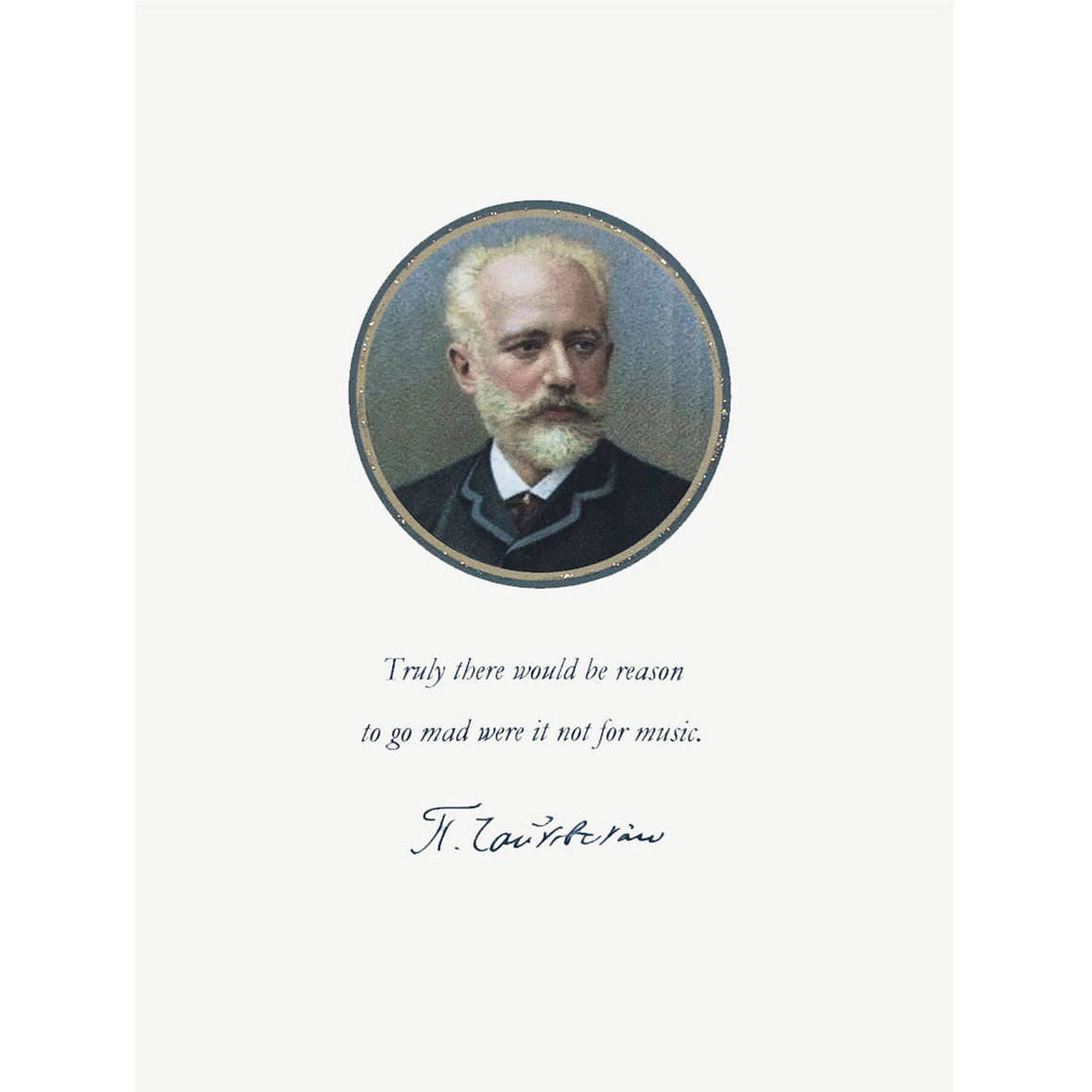 Tchaikovsky Greeting Card, Lumia Designs