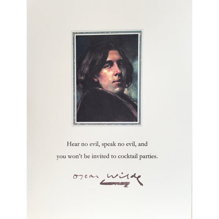 Greeting Card Oscar Wilde - Lumia Designs