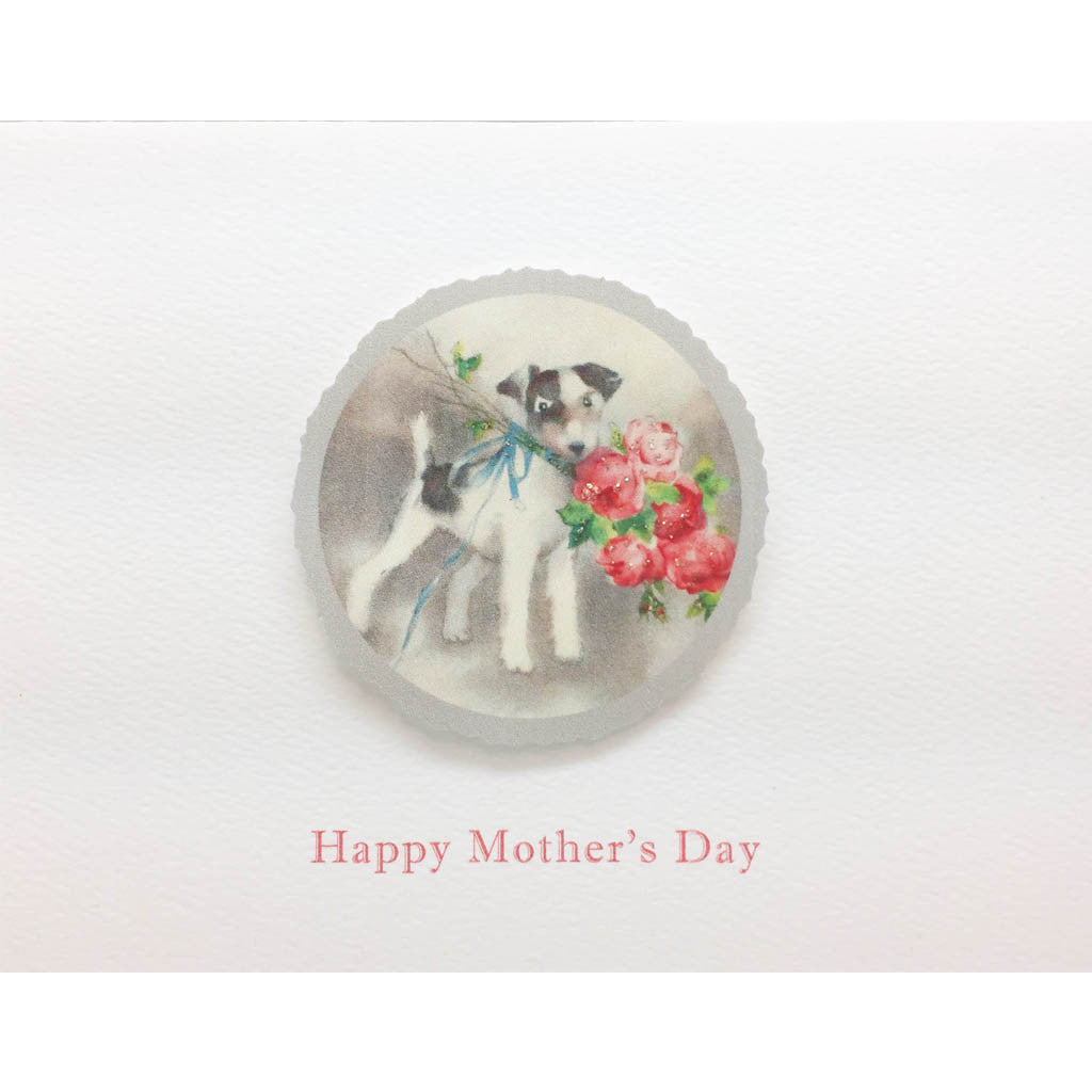 Dog Roses Mother's Day Card