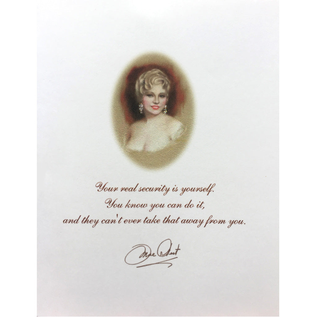 Mae West Quote Card