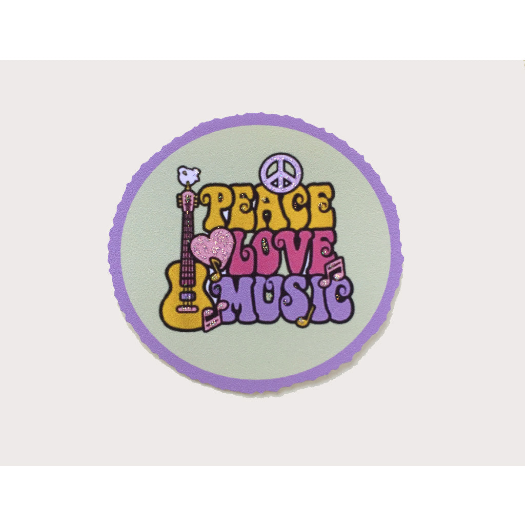 Peace Love & Music Card