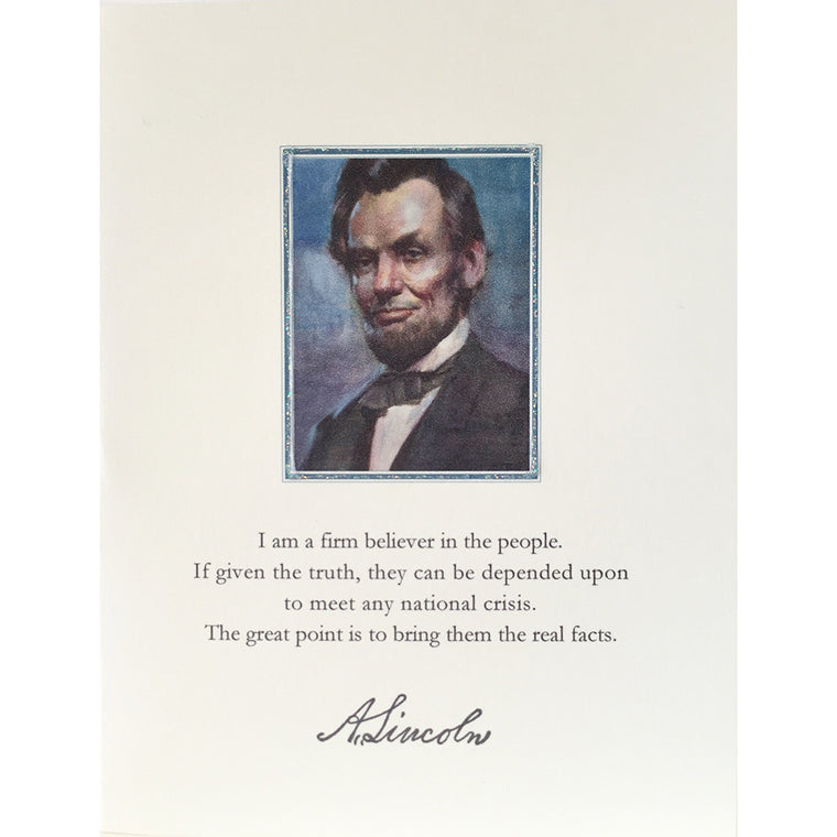 Abraham Lincoln Greeting Card Lumia Designs