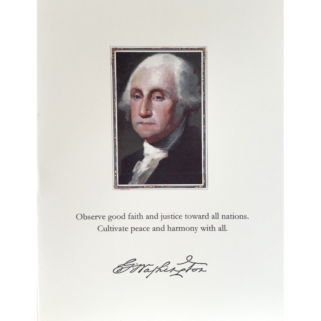 Greeting Card George Washington - Lumia Designs
