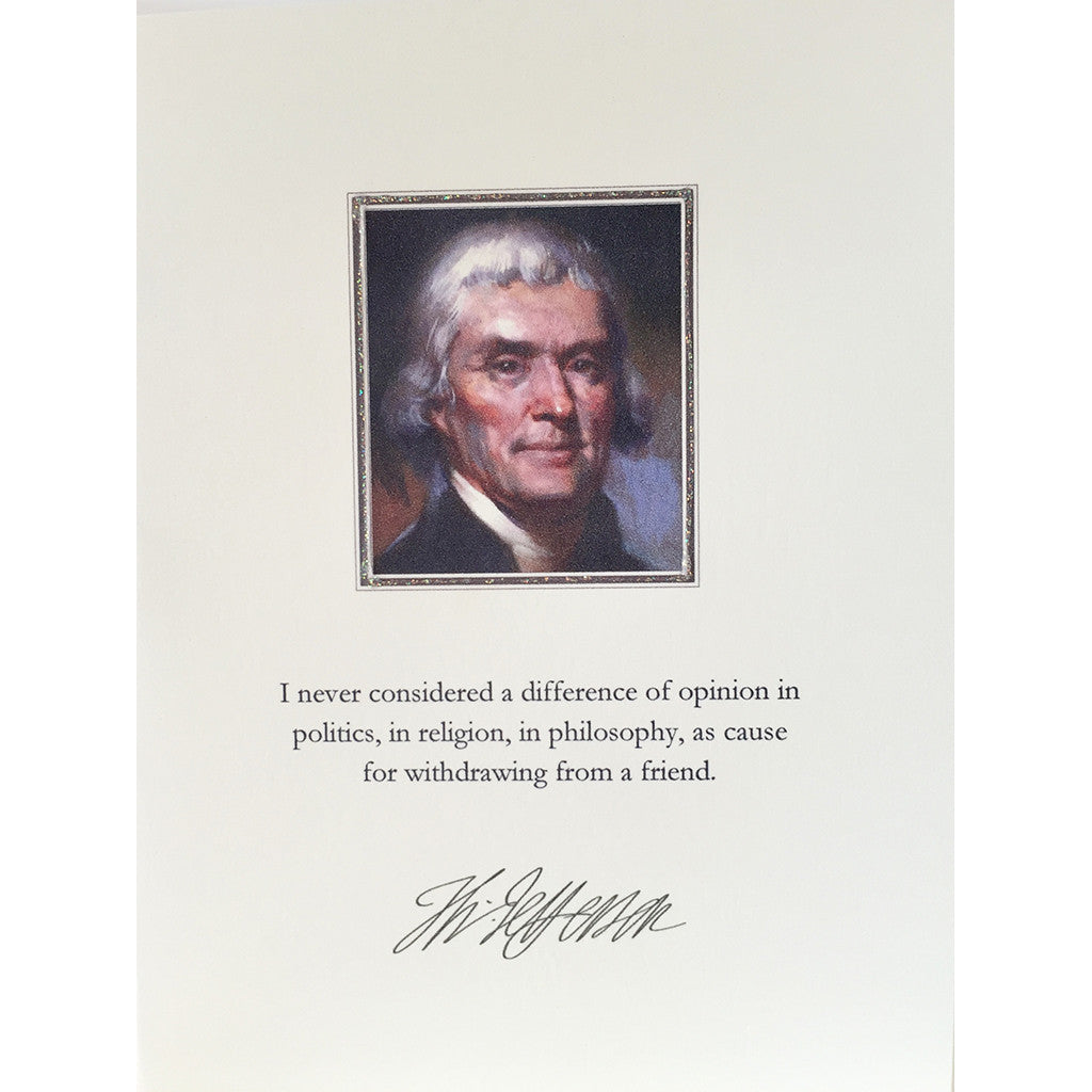 Greeting Card Thomas Jefferson - Lumia Designs