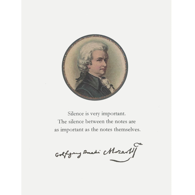 Mozart Greeting Card Lumia Designs