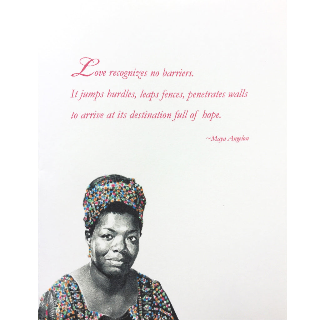 Maya Angelou Greeting Card Lumia Designs