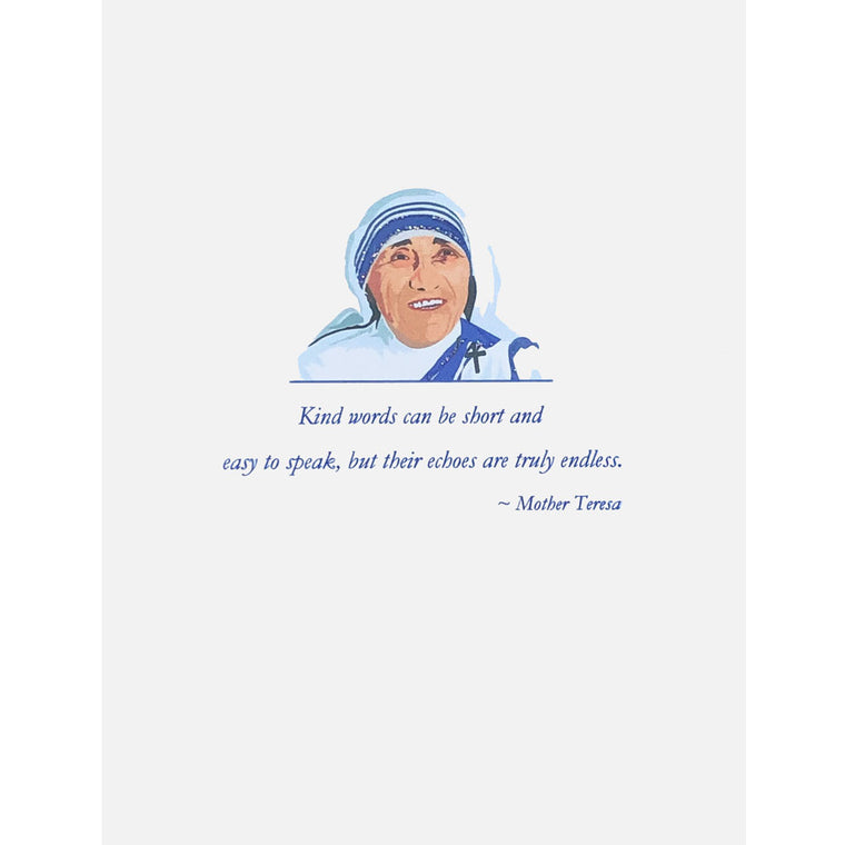 Mother Teresa Card