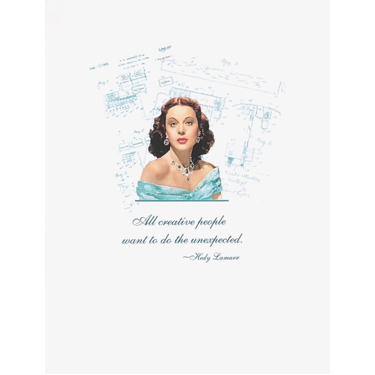 Hedy Lamarr Quote Card