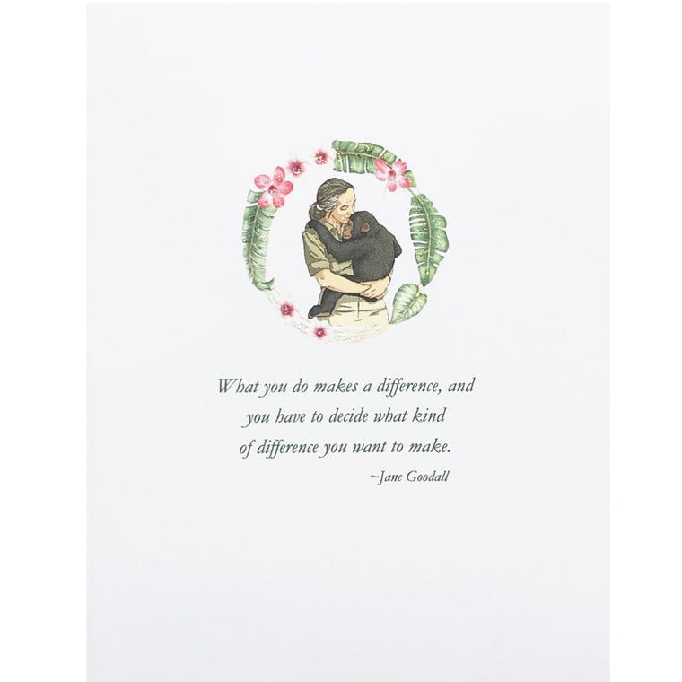 Jane Goodall Quote Card