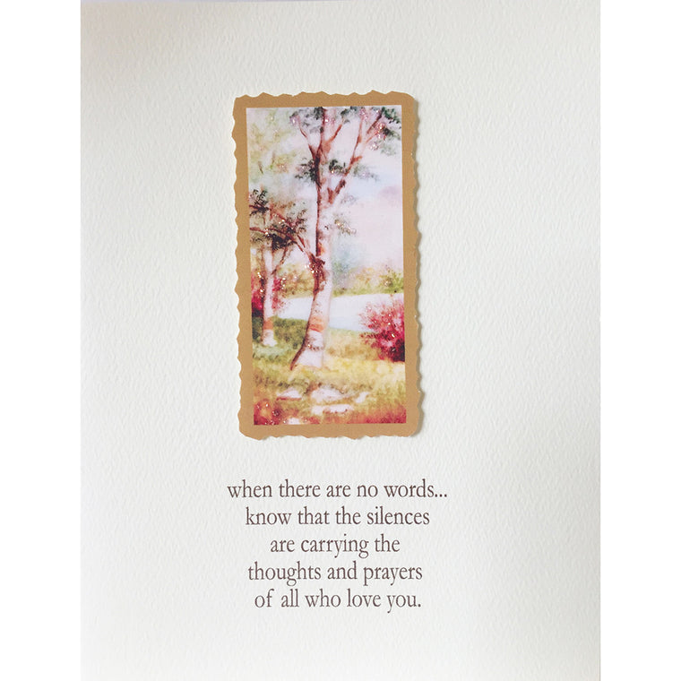 Sympathy Card Birch Tree Lumia Designs