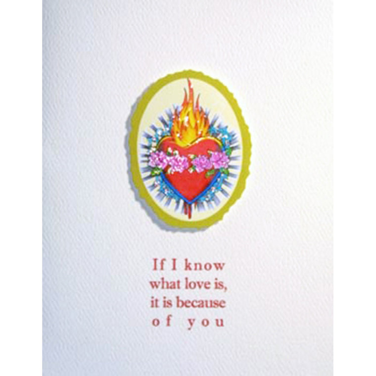 Greeting Card Flame Heart - Lumia Designs