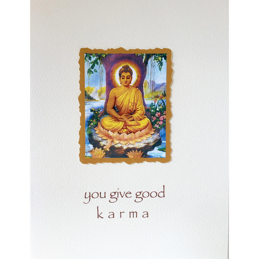 Greeting Card Good Karma - Lumia Designs