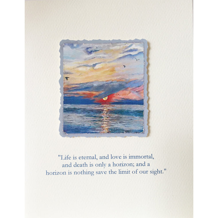 Greeting Card Ocean Sympathy - Lumia Designs
