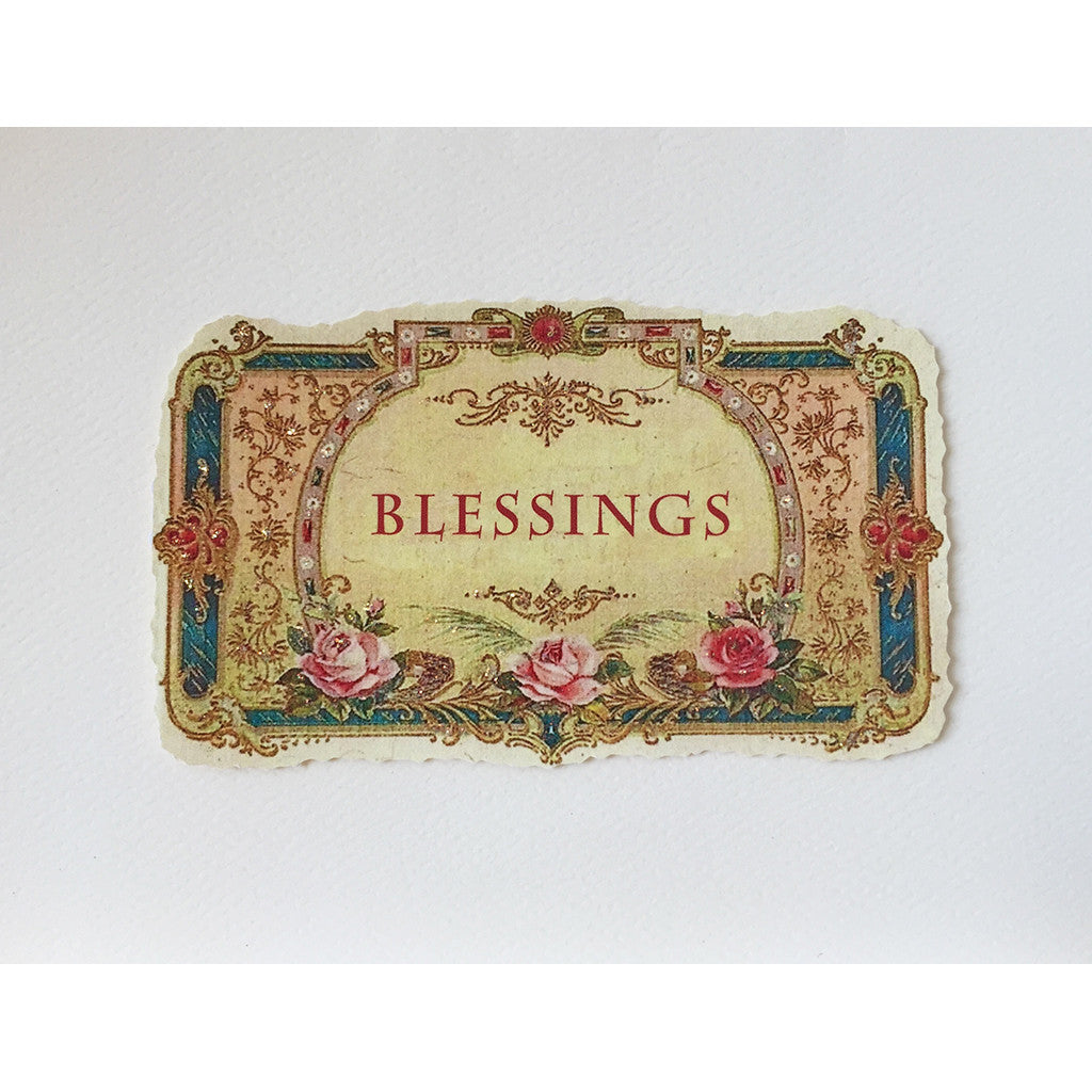 Greeting Card Vintage Blessings - Lumia Designs