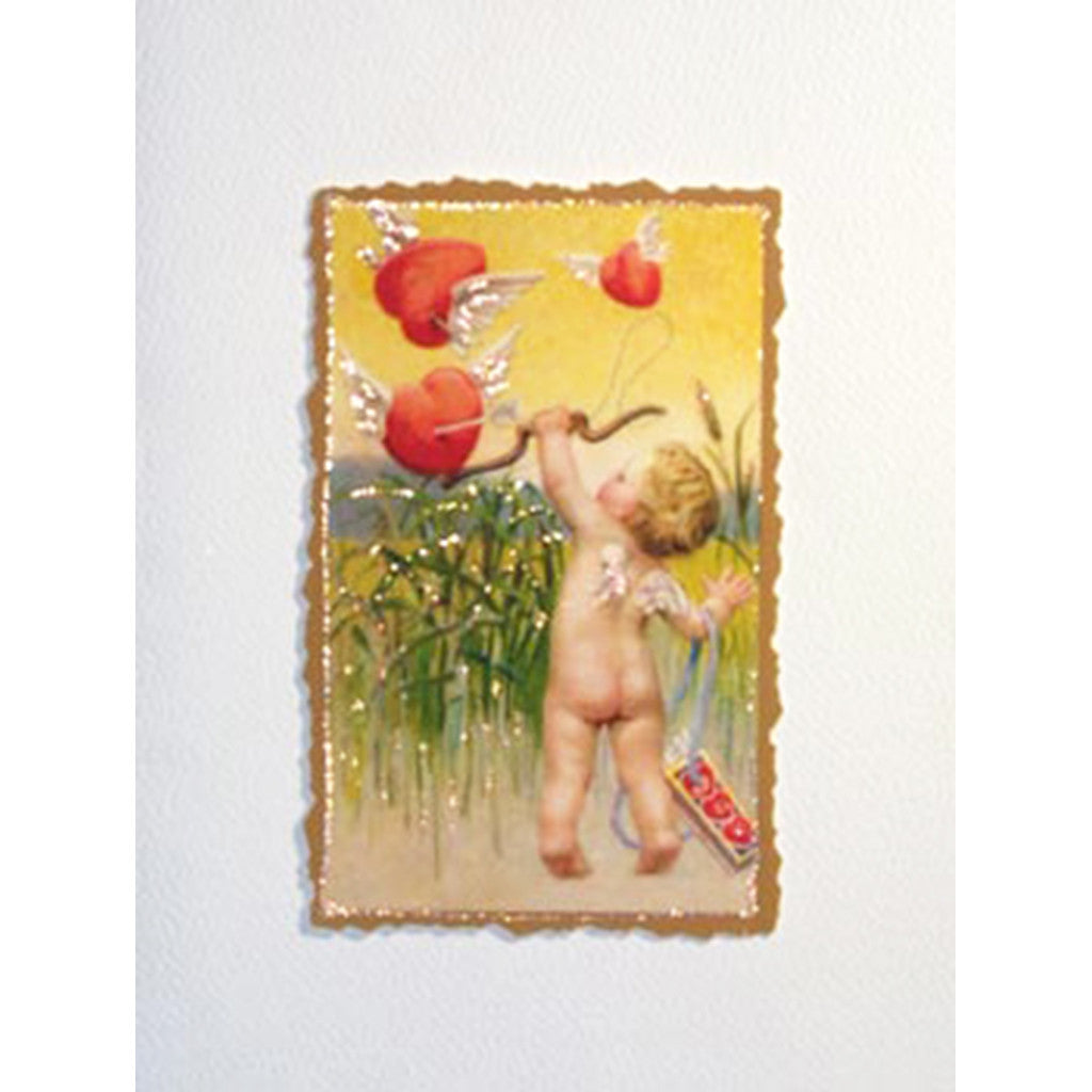 Greeting Card Cherub Hearts - Lumia Designs