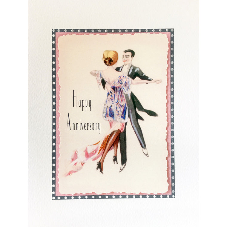 Greeting Card Dancers Anniversary - Lumia Designs