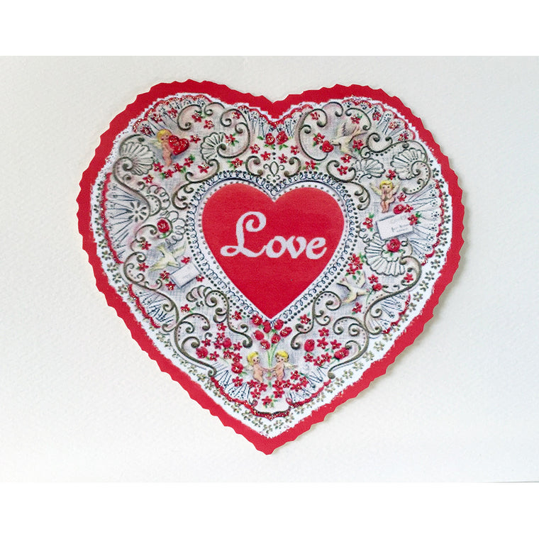 Greeting Card Heart Filigree - Lumia Designs