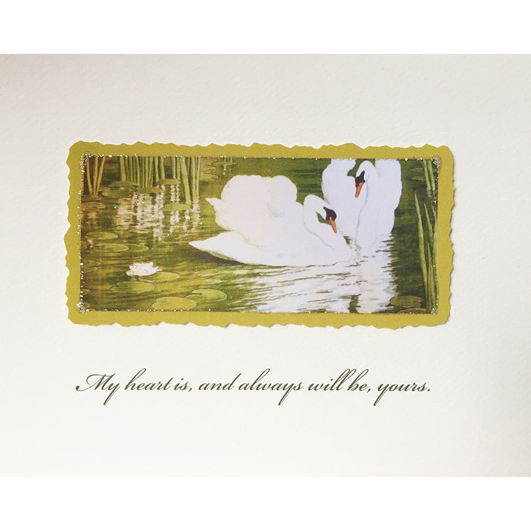 Greeting Card Swans - Lumia Designs