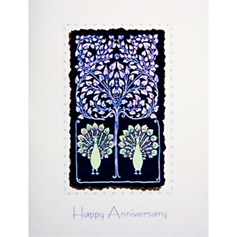 Greeting Card Peacock Anniversary - Lumia Designs