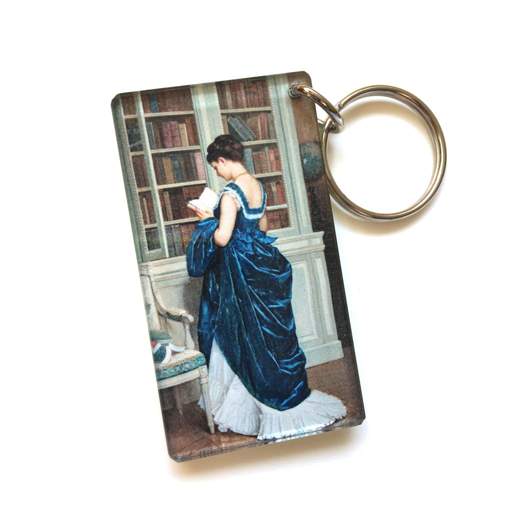 Reading Keychain (Quote on back)