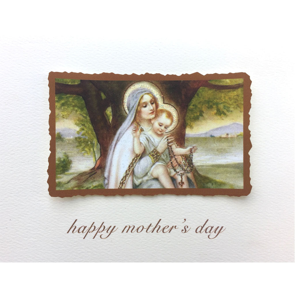 Rosary Mother's Day Card