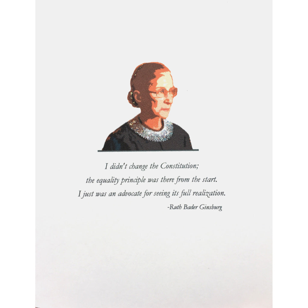 Ruth Bader Ginsburg Greeting Card -Lumia Designs