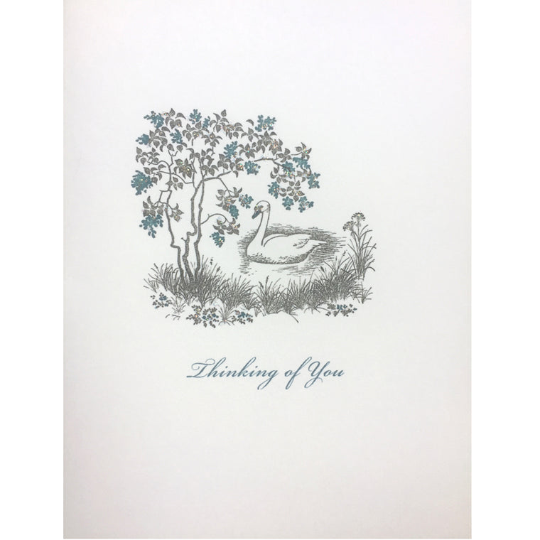 Swan Thinking of You Card