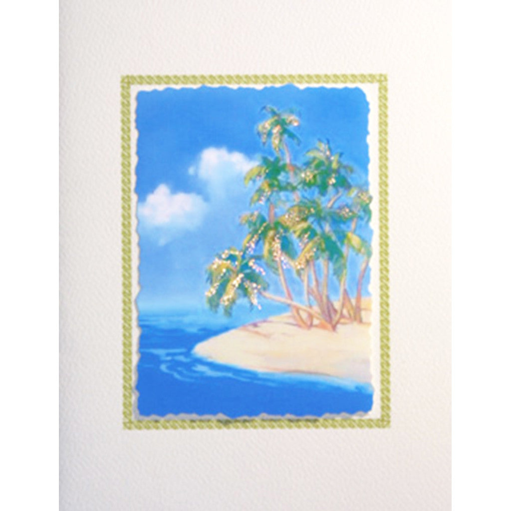 Greeting Card Tropical Paridise - Lumia Designs