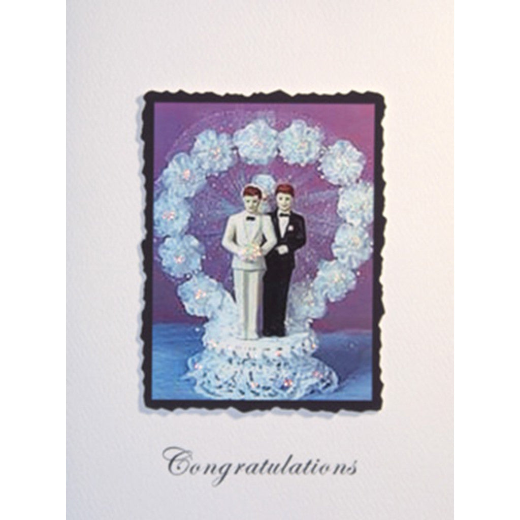 Greeting Card Grooms Cake Top - Lumia Designs