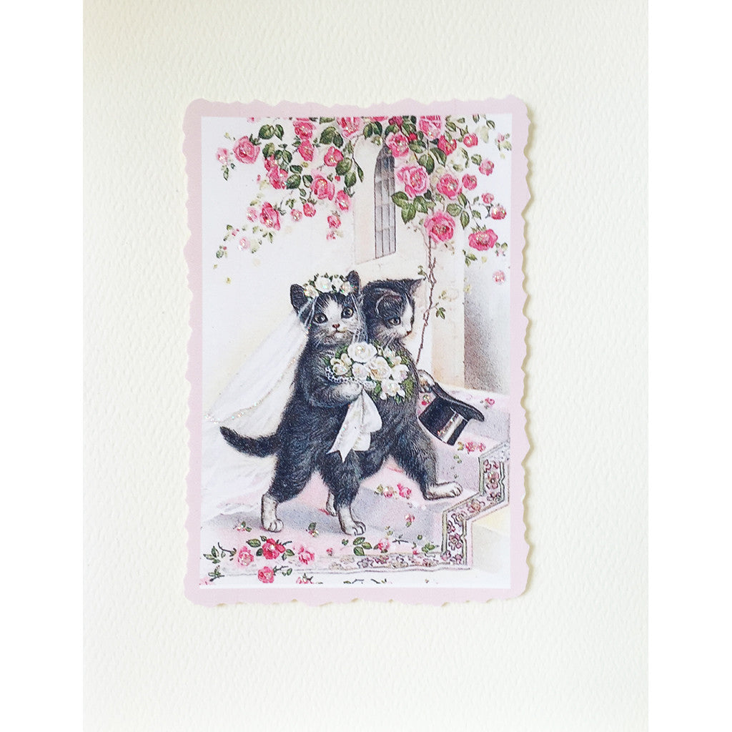 Greeting Card Cat Wedding - Lumia Designs