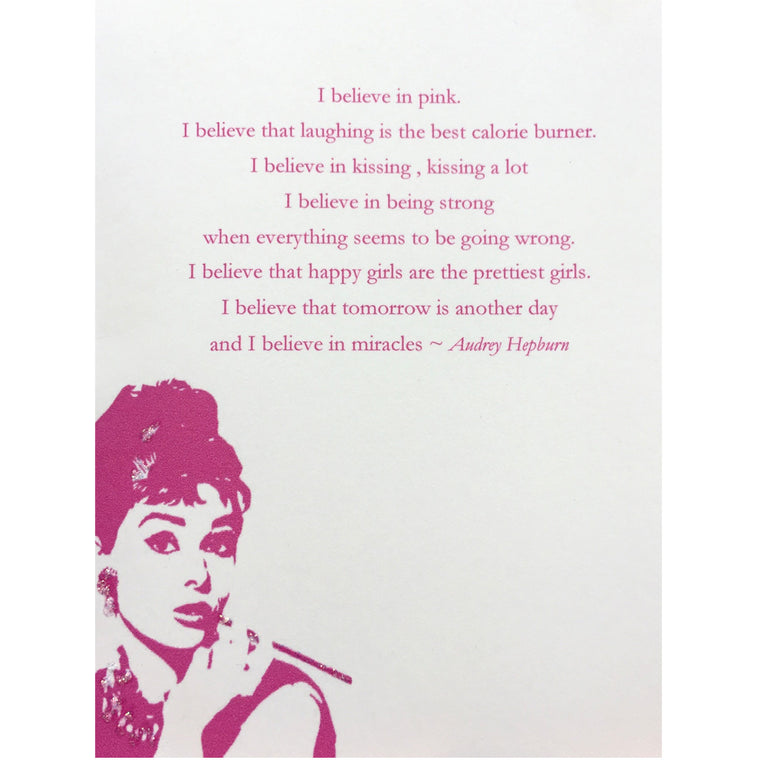 Audrey Hepburn Quote Card