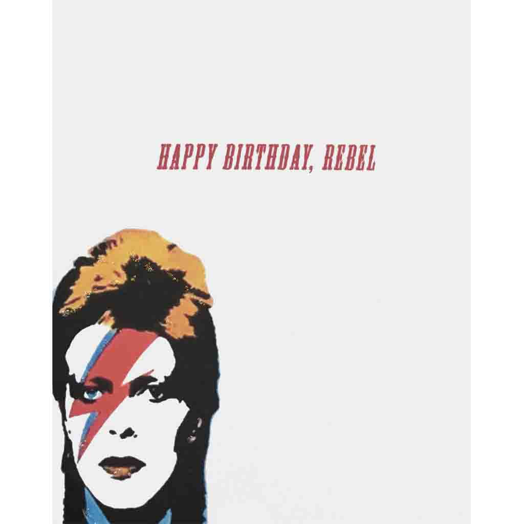 Bowie Rebel Birthday Card