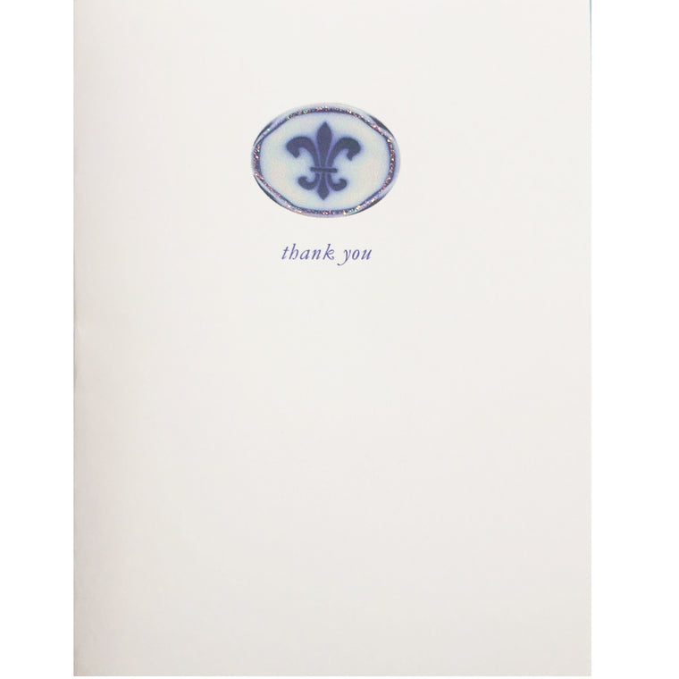 Fleur di lis Thank You Card