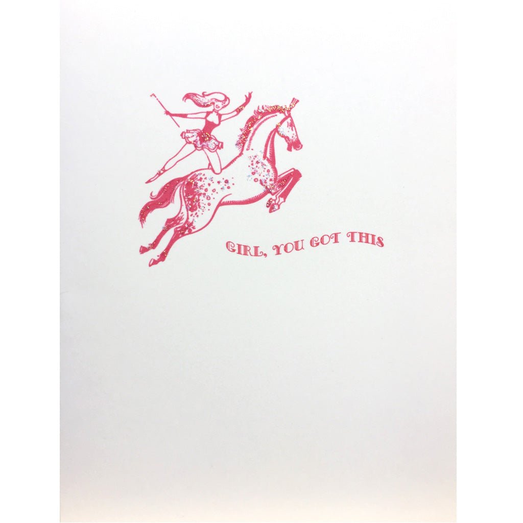 Pink Rider Encouragement Card