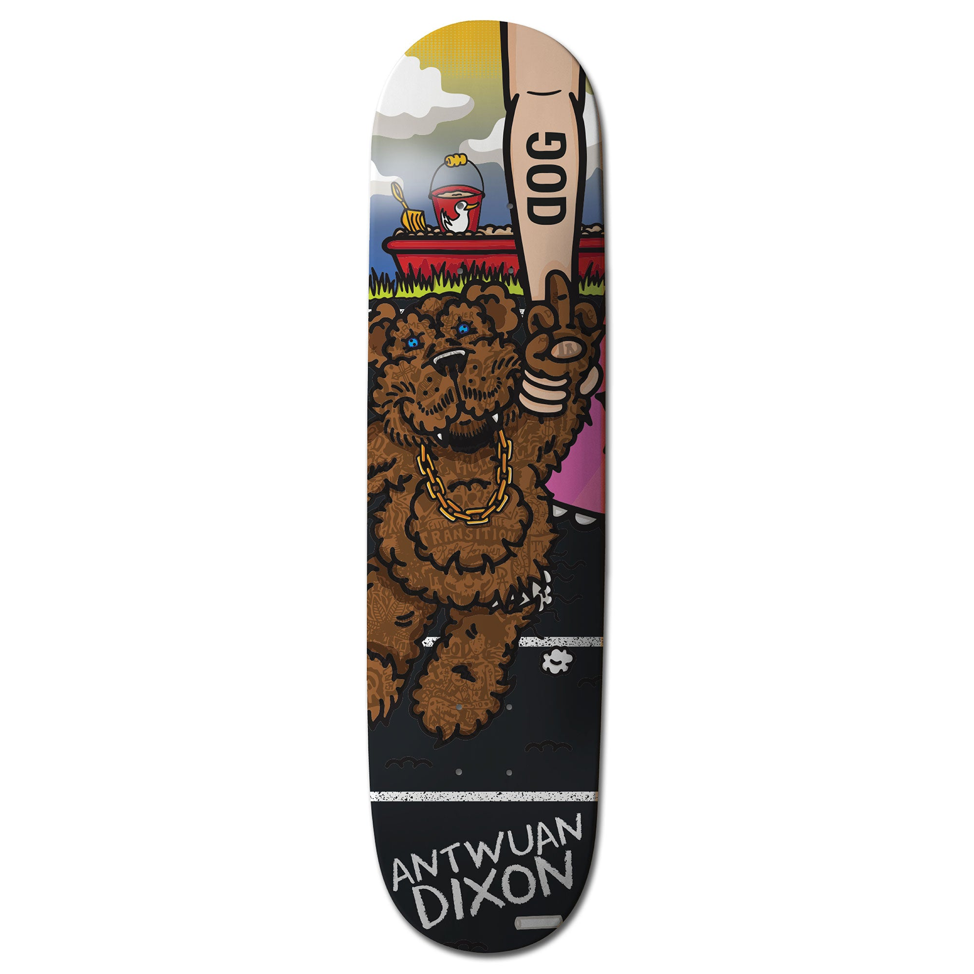 "Antwuan Dixon ""Stuffed"" DOG Skateboard"