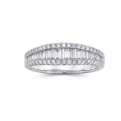 Baguette/Round Diamond Band