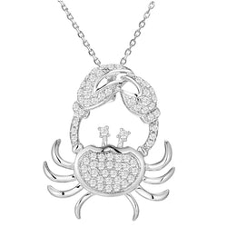 Crab Diamond Pendant