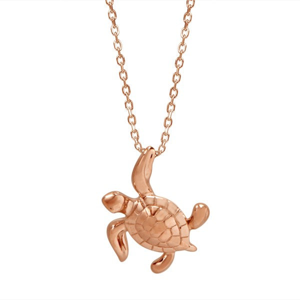Gold turtle pendant greenleaf diamonds gold turtle pendant aloadofball Choice Image