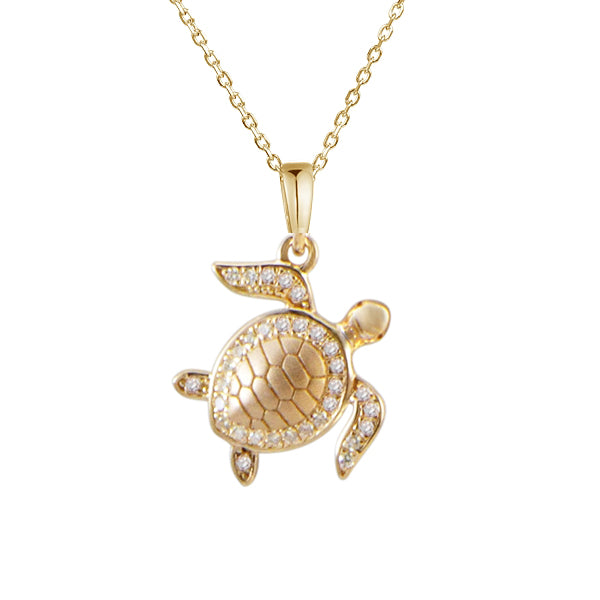 Pavé Honu (Turtle) Pendant Greenleaf Diamonds