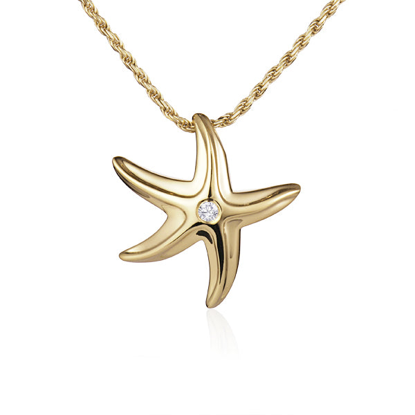 Diamond Starfish Pendant Greenleaf Diamonds