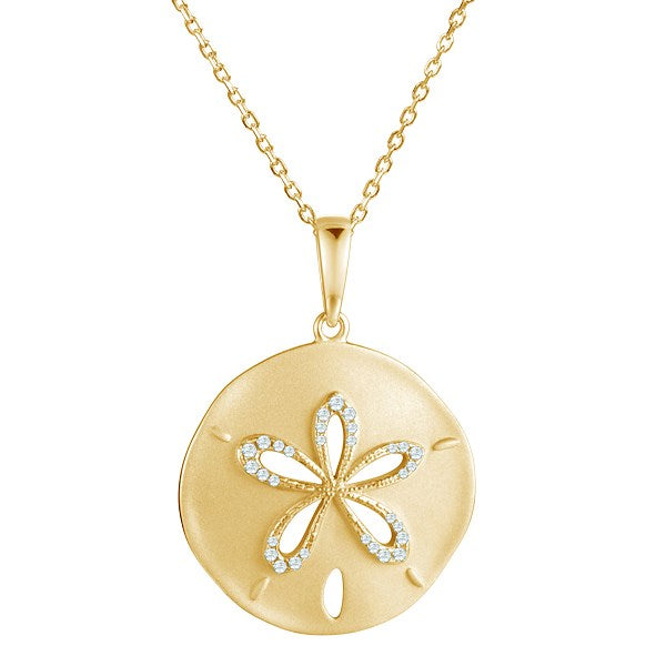 Diamond Sand Dollar Pendant