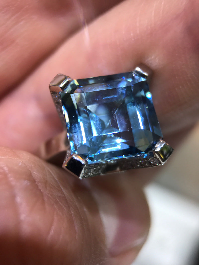 Aquamarine Ring