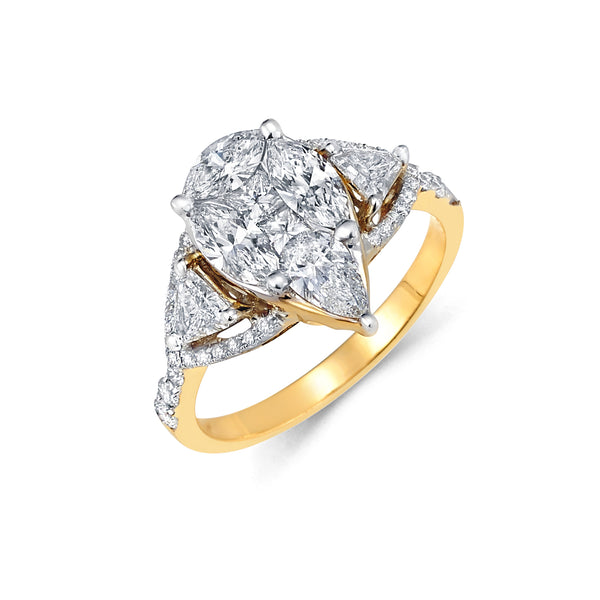 Modern Cluster Diamond Ring