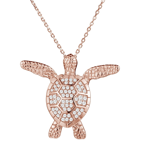 Diamond Pavé Honu (Turtle) Pendant Greenleaf Diamonds