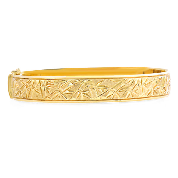 Gold Bamboo Bangle Greenleaf Diamonds
