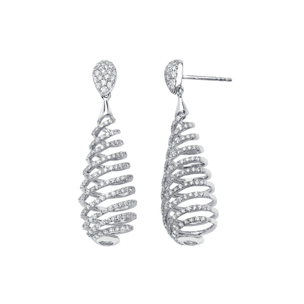 Spiral Micro Pave Diamond Earring