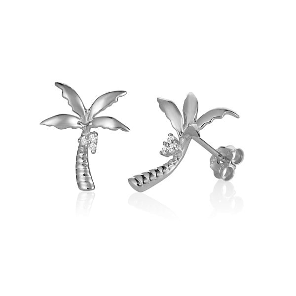 Diamond Palm Tree Earrings Greenleaf Diamonds