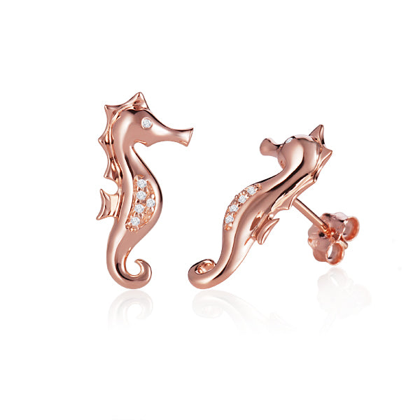Diamond Seahorse Earrings Greenleaf Diamonds